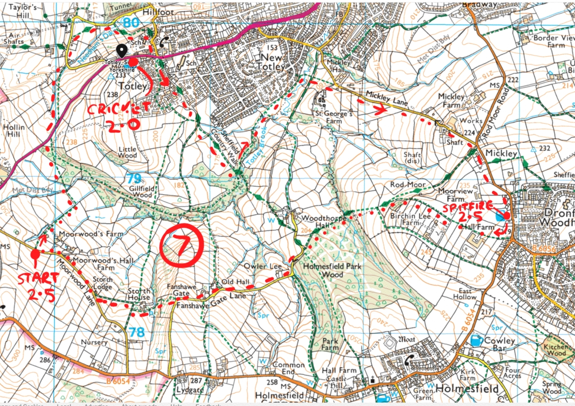 65. Totley peak district walk