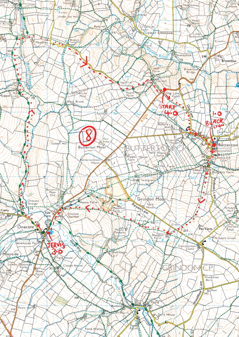 67. Butterton and Onecote peak district walk